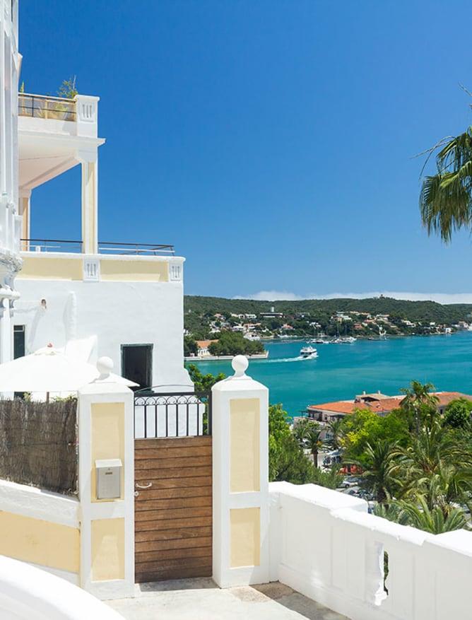 Coastal villa view on Majorca