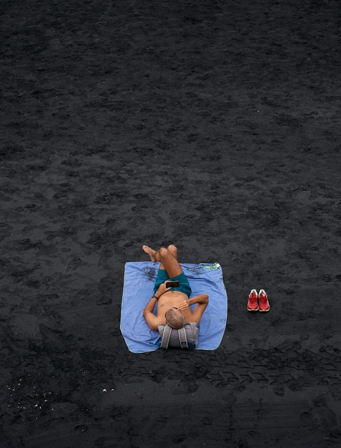 Black sands of Las Palmas de Gran Canaria