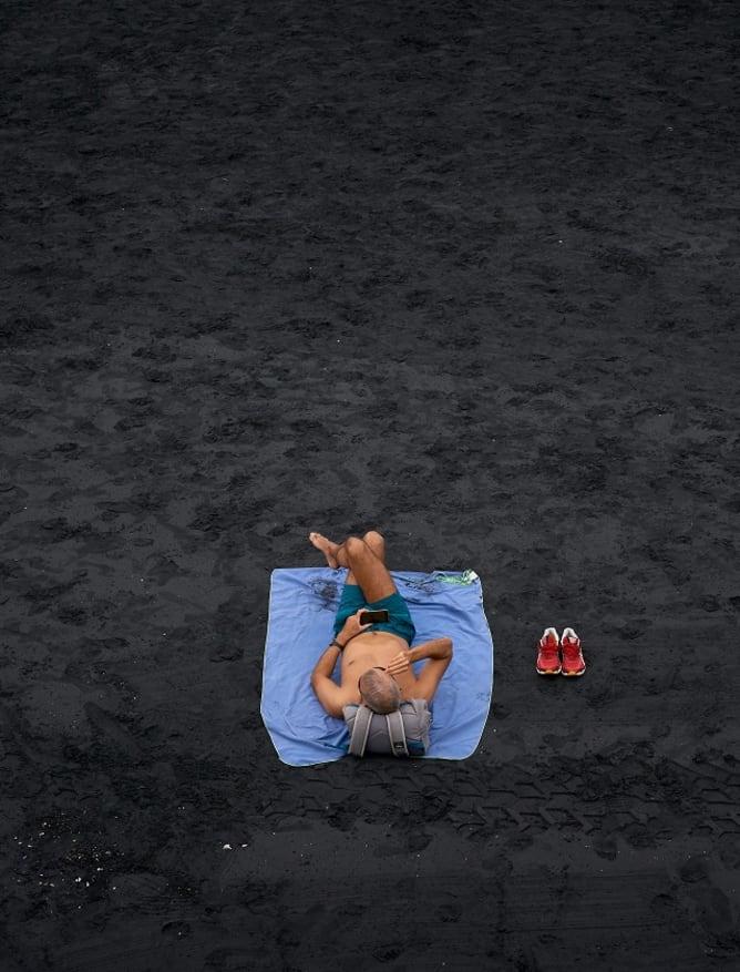 Black sands of Las Palmas de Gran Canaria