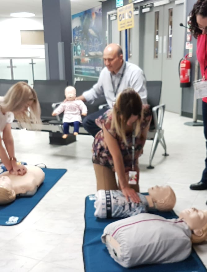First Aid and Defibrillator training