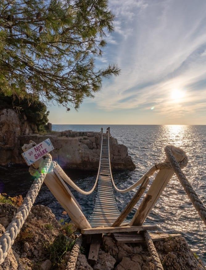 Bridge to Fort Punta Christo, Pula, Croatia