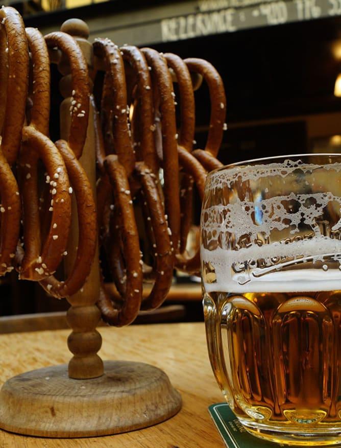 Pretzels and pilsner in Prague