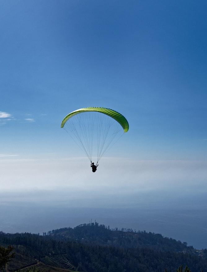 Parasailer above Madeira