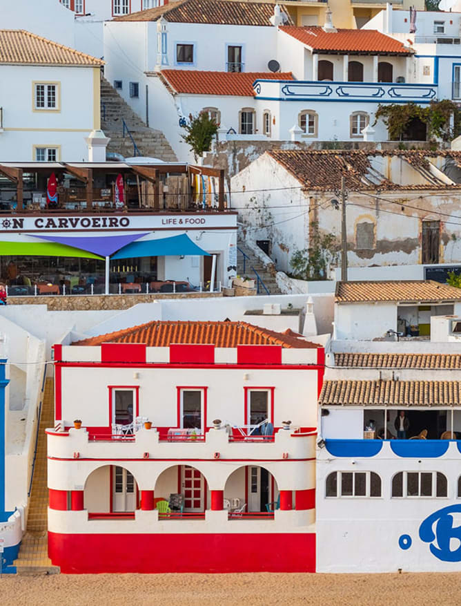 Colourful Carvoeiro in the Algarve
