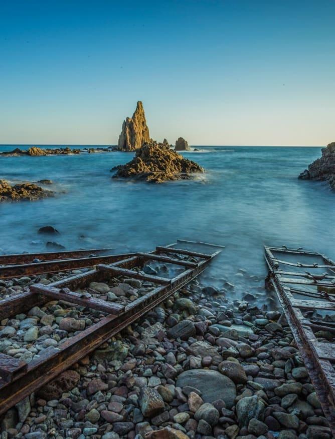 Cabo de Gata ladders into the ocean