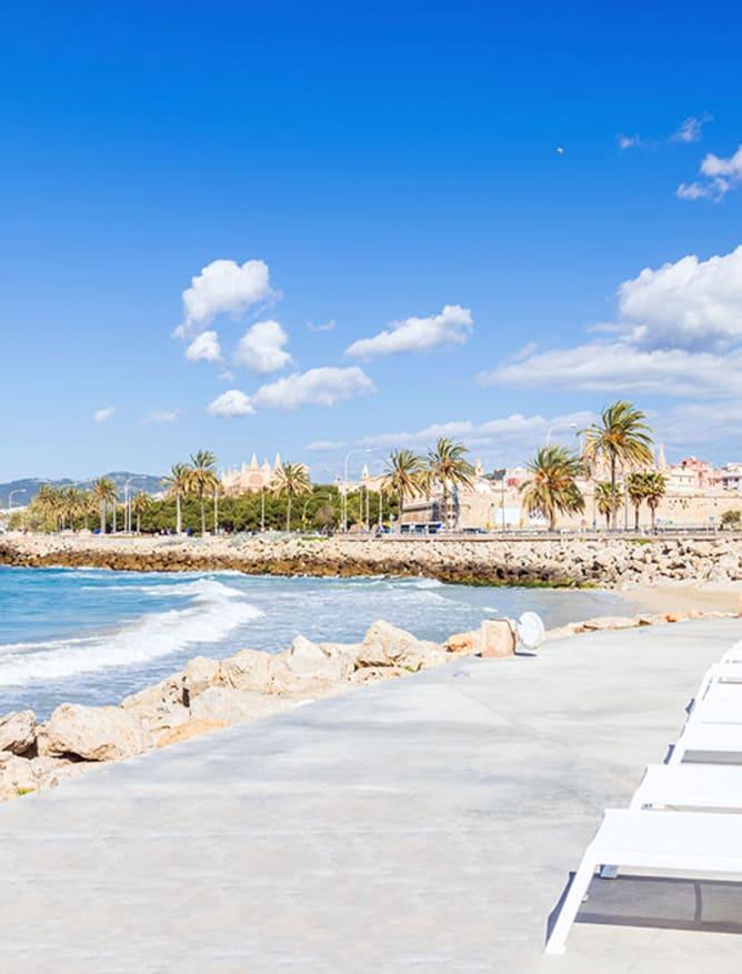 Sun lounging in Palma