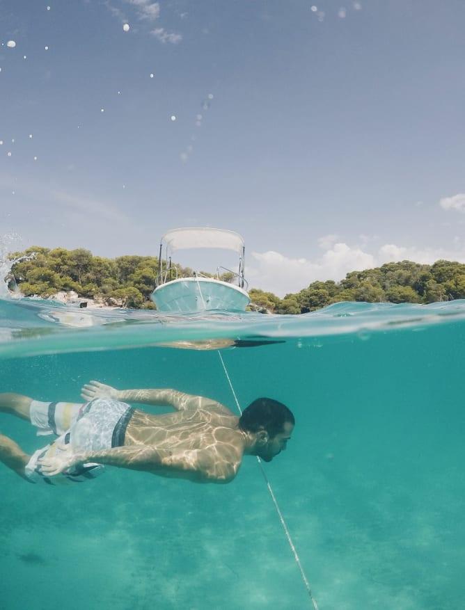 Swimming in Ciutadella de Menorca