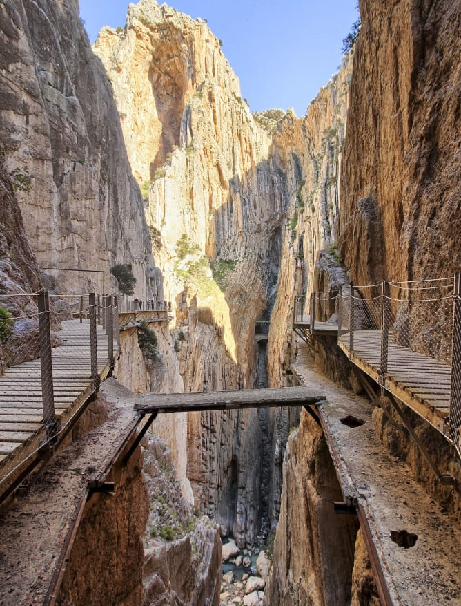 Caminito del Rey walkway in the Malaga region