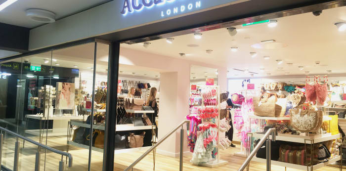 Accessorize shop front at Leeds Bradford Airport