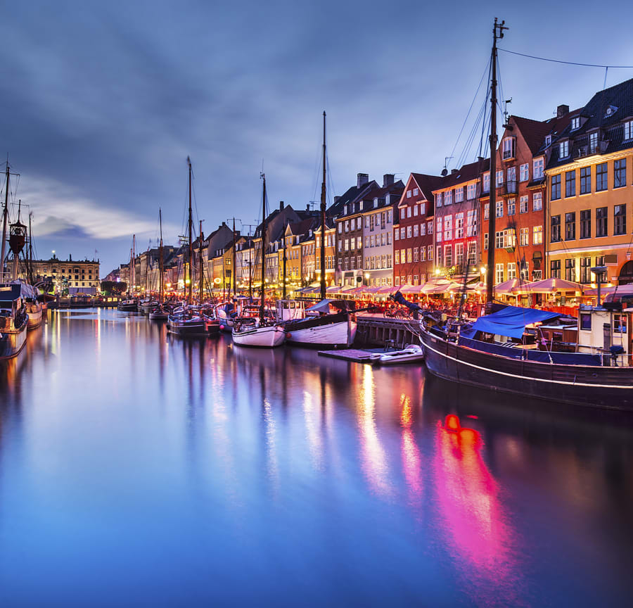 Copenhagen at night