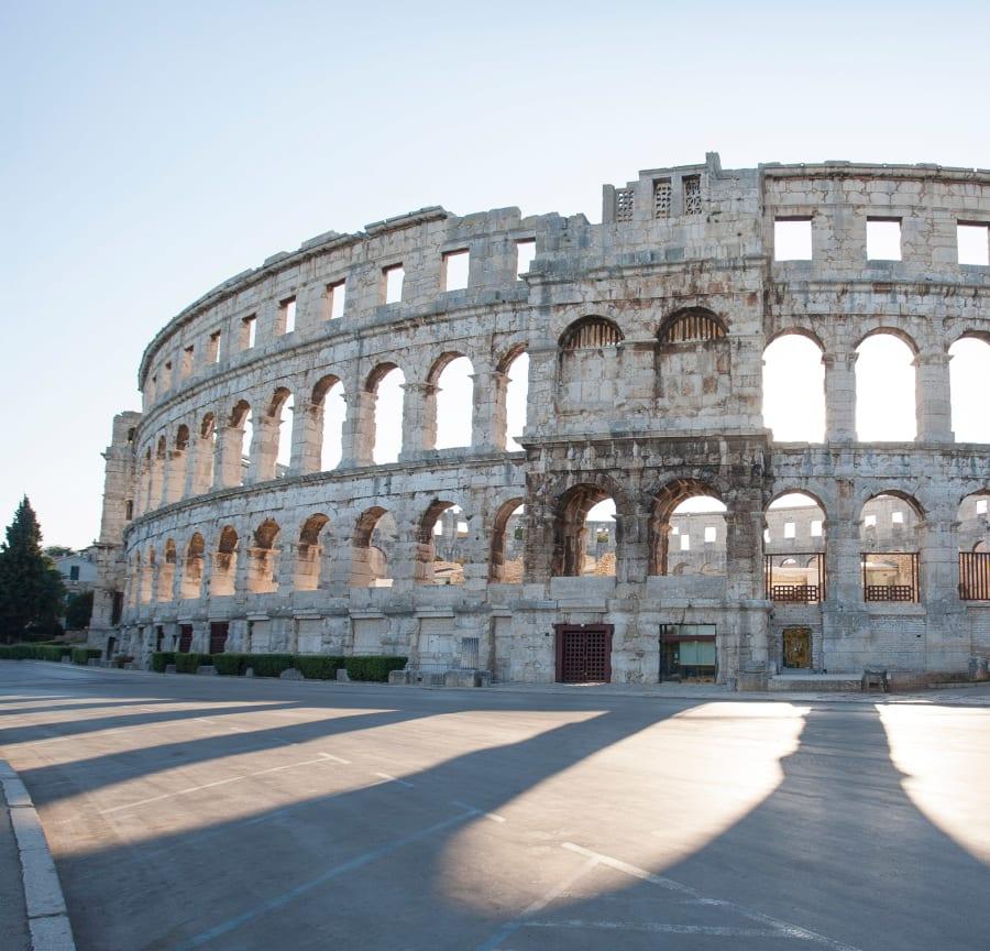 The Pula Arena, a Roman amphitheatre