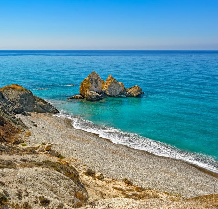 Serene Paphos beach