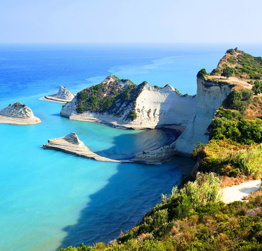 Corfu cliffside