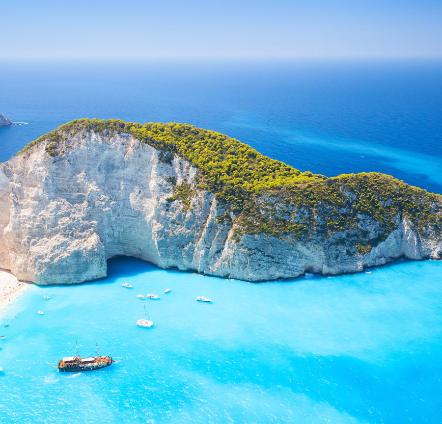 Smuggler's Cove on Zakynthos, Greece