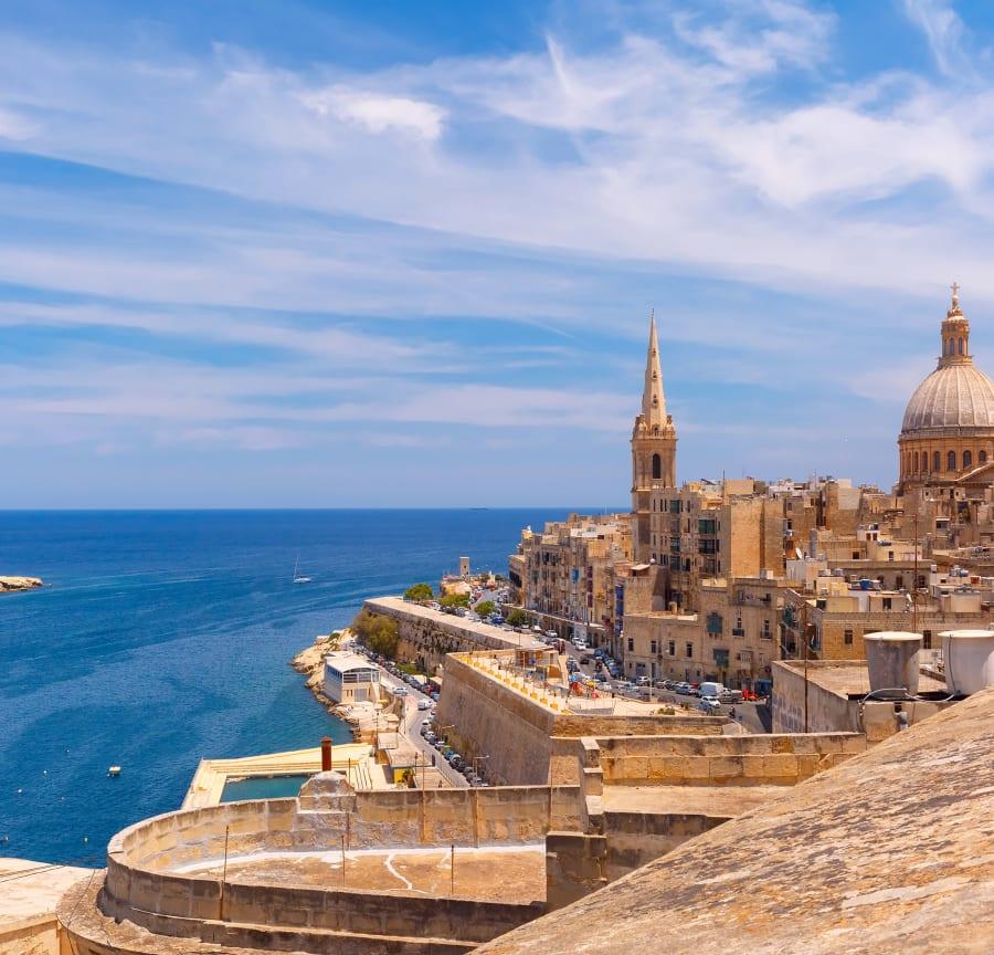 Seaside view from Valletta
