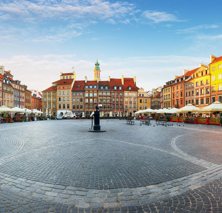 Warsaw's main square