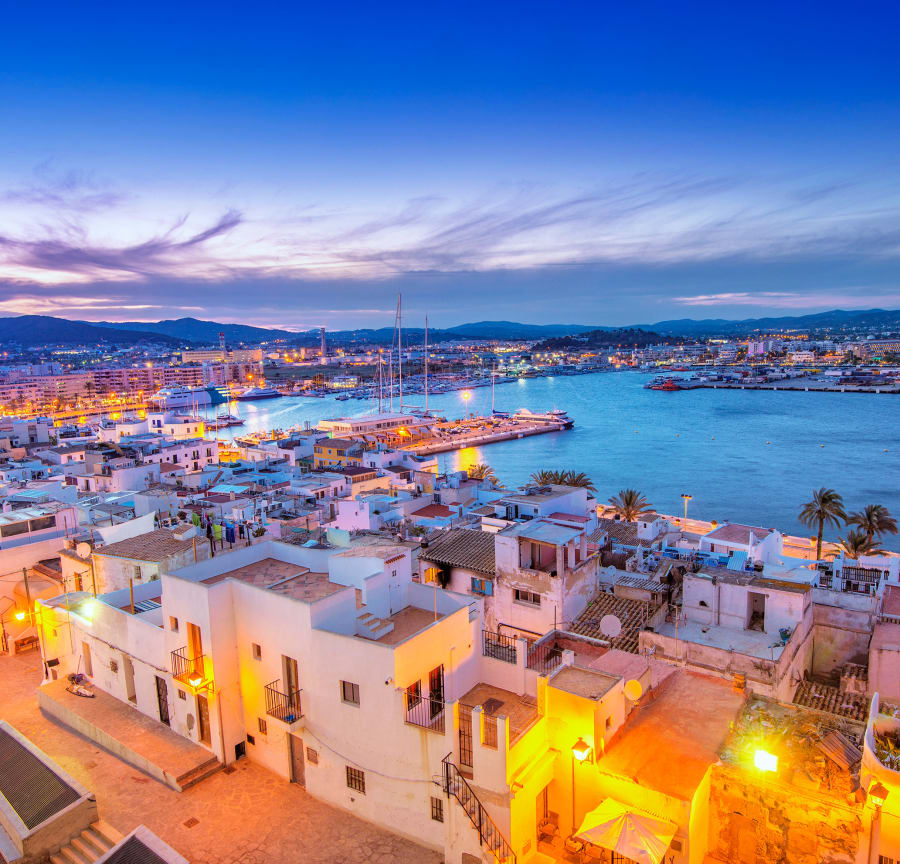 Ibiza Town and harbour