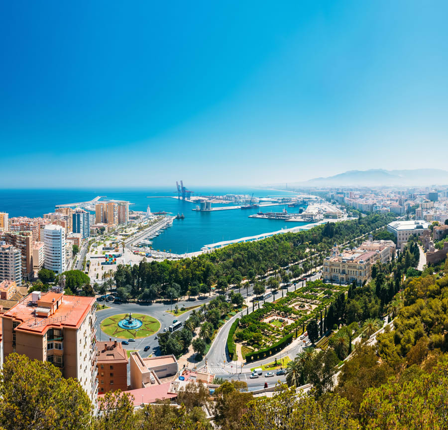Malaga from above