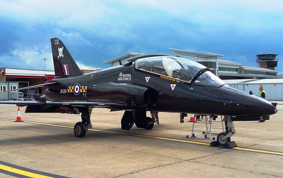 RAF Hawk Jet at Leeds Bradford Airport