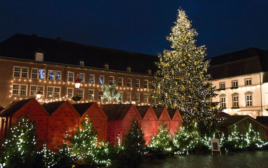 Christmas market in Dusseldorf