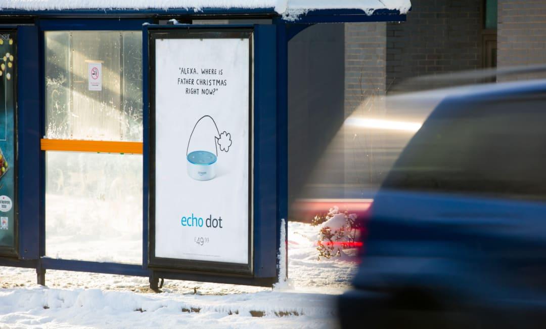 Amazon Echo Dot Poster Adshel