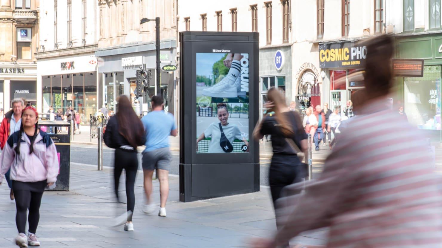 Adshel Live Screen featuring Adidas in Glasgow