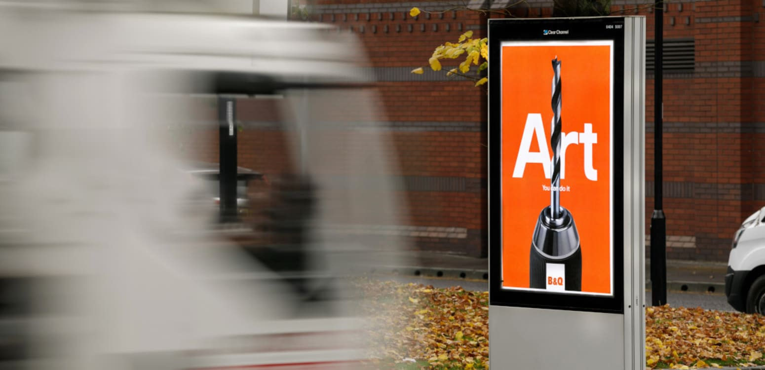 B&Q brand campaign roadside small format poster