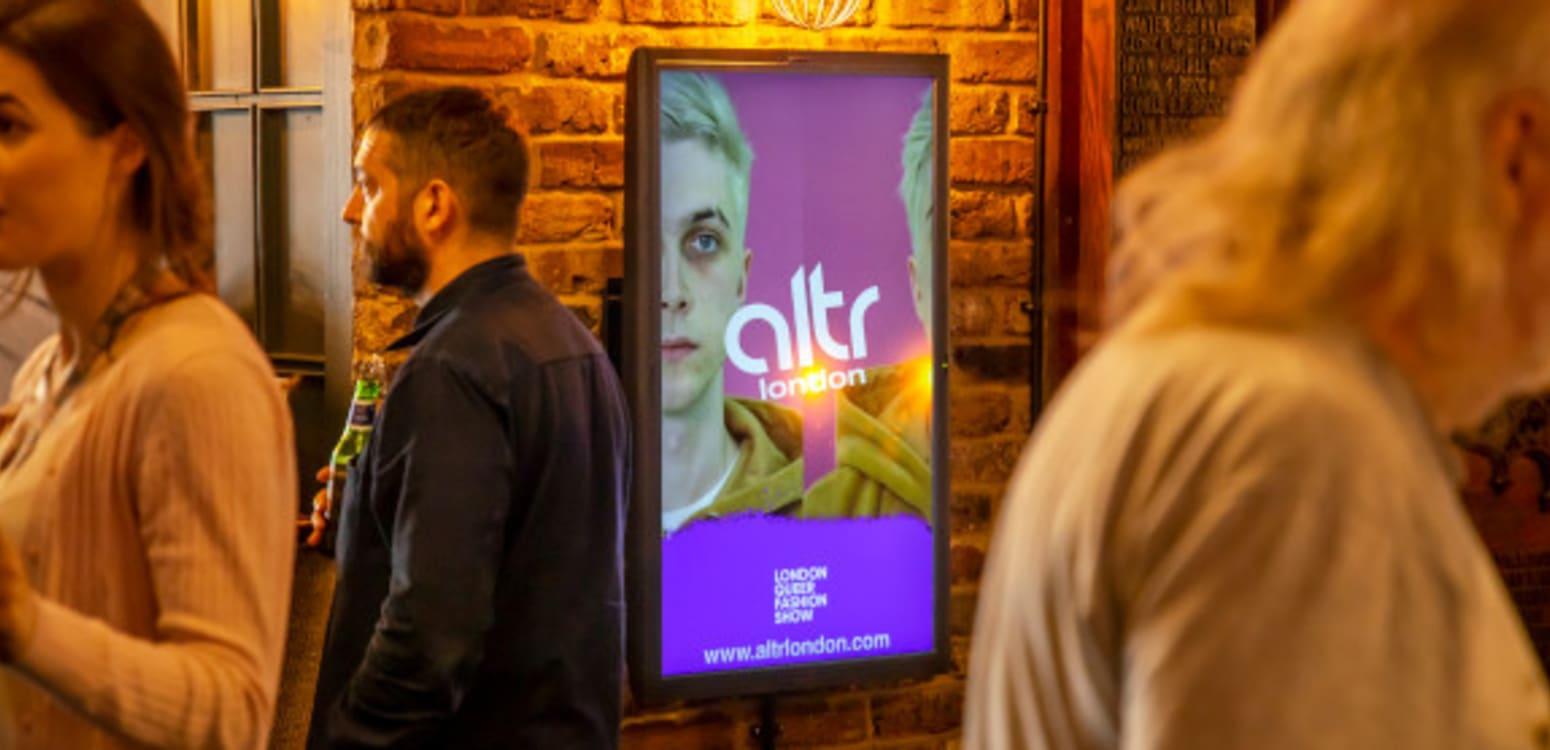Altr fashion show ad on Socialite screen