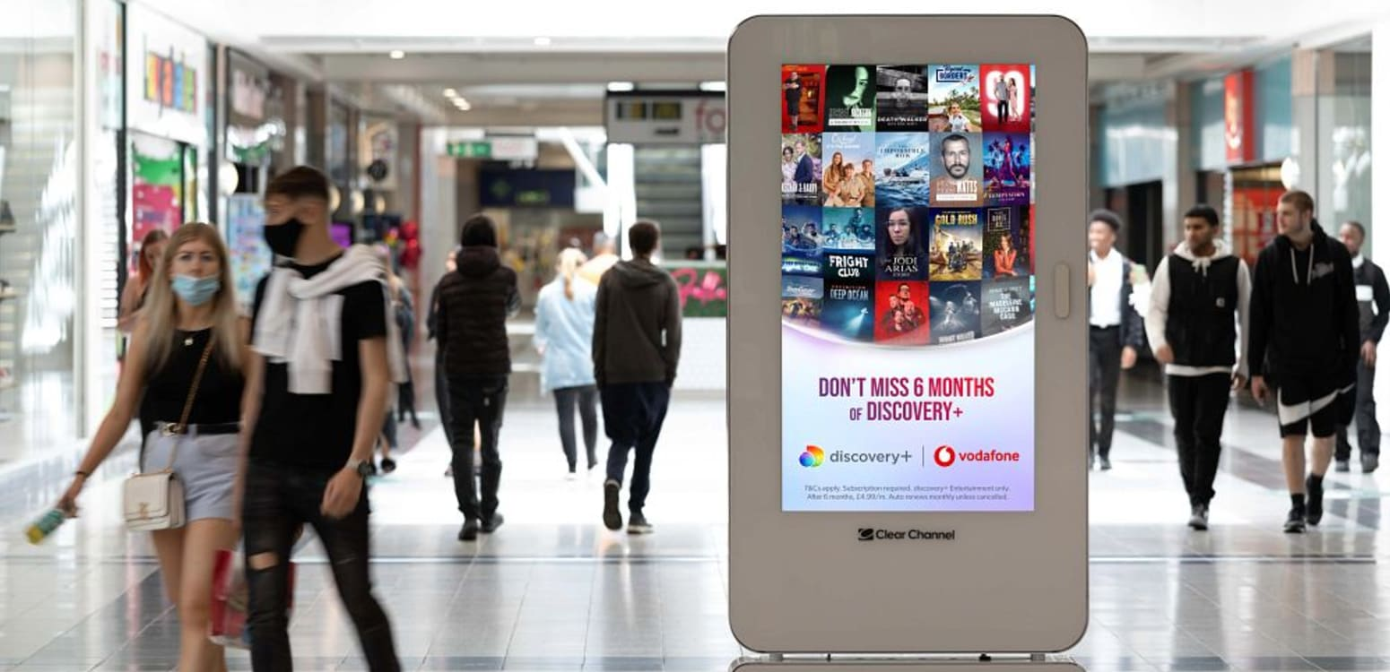 Malls advertising for telecoms