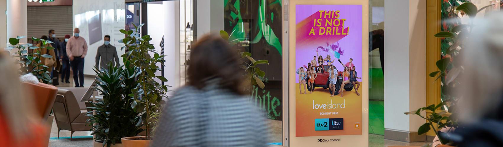 Malls Live advertising screen