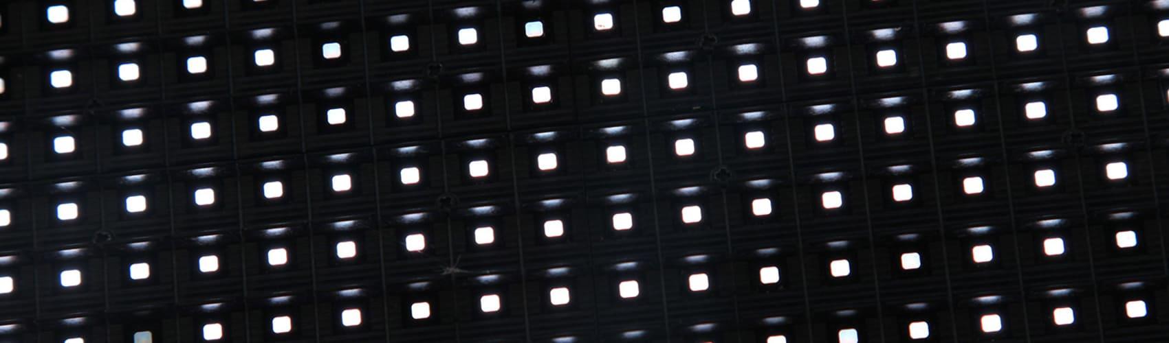 Storm screen pixels close up