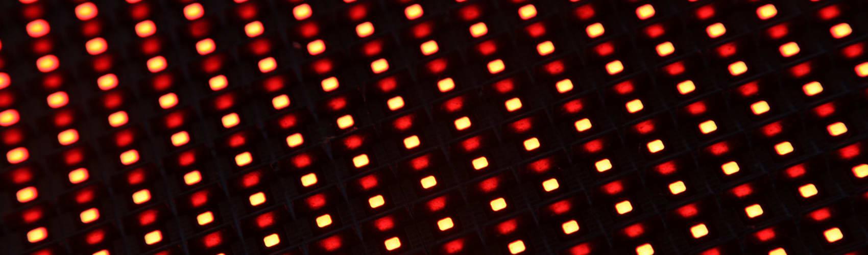 Storm screen pixel close up
