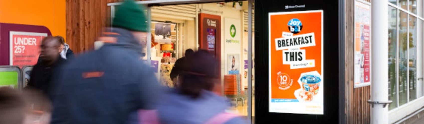 Kellogg's breakfast ad on Sainsbury's Live screen