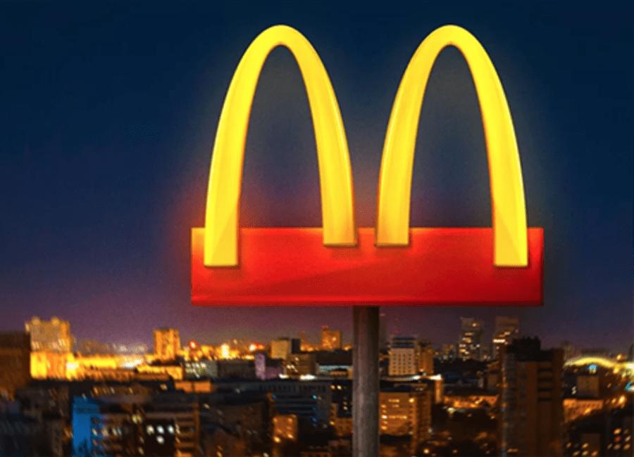 McDonalds social distancing sign