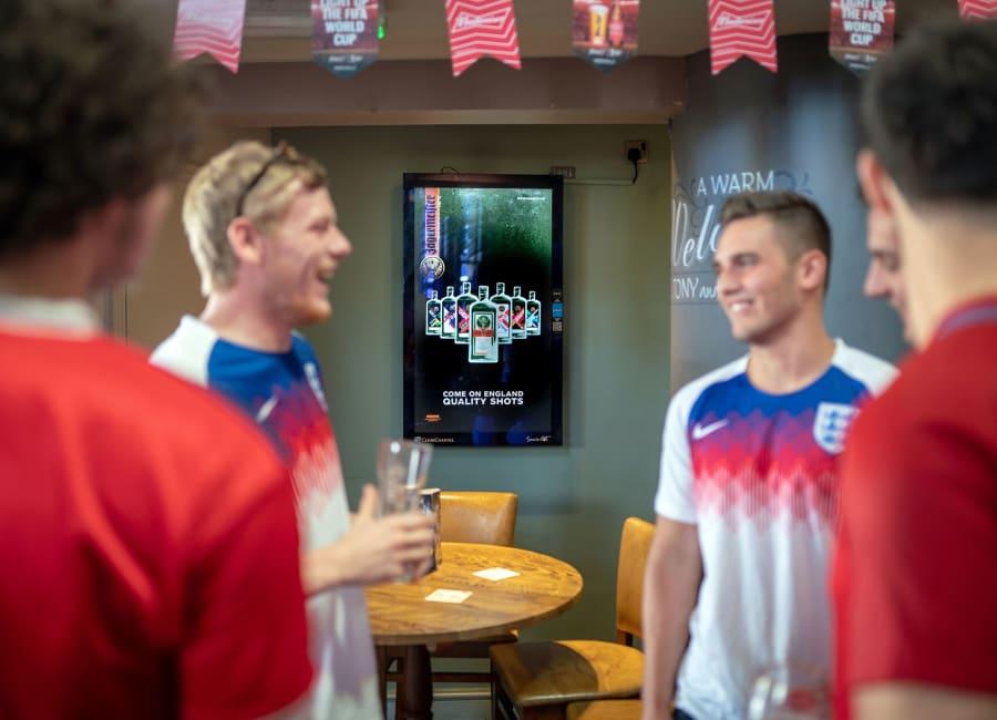 Socialite digital screen in a bar