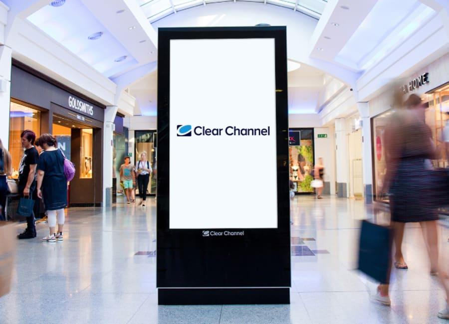 Digital malls mockup template