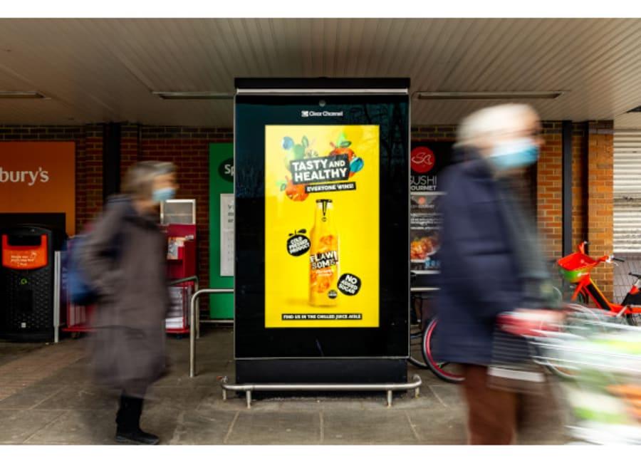 Flawsome drinks ad on Sainsbury's Live screen