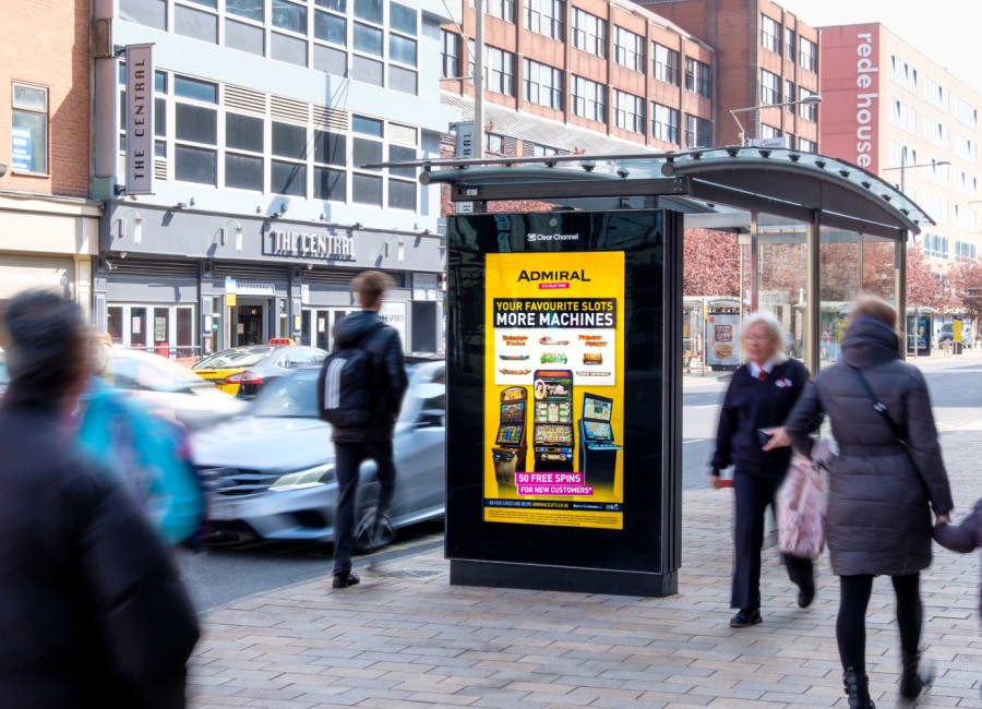 Adshel Live Screen in Middlesbrough