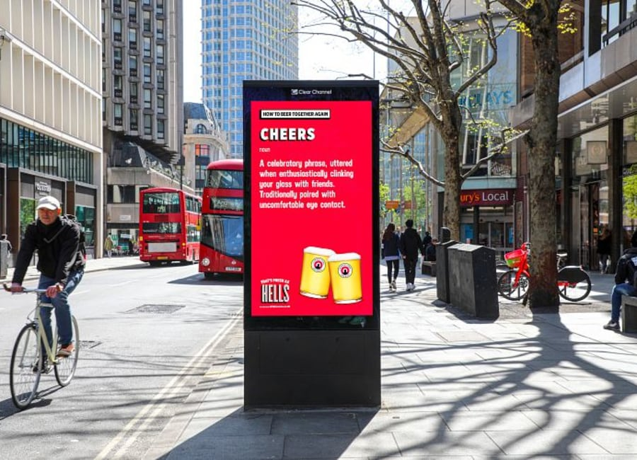 Alcohol advertising on outdoor