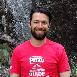 Photo de Jordan Lee-Roy, guide de via ferrata chez Parcours Aventures