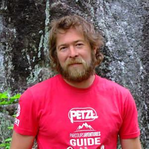 Photo de Samuel Paquette, guide de via ferrata chez Parcours Aventures