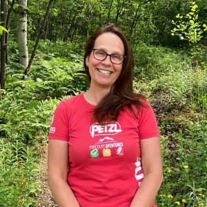 Photo de Julie Corriveau, guide de via ferrata chez Parcours Aventures