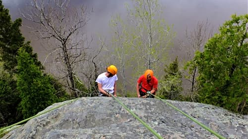 Photo du cours Gestuelle en escalade de roche