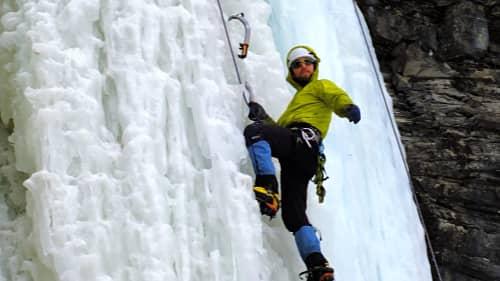 Photo de cours d'escalade de glace