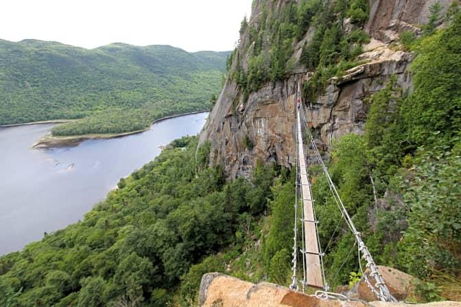 Passerelle de la via ferrata de Baie-Éternité, Parc national du Fjord-du-Saguenay