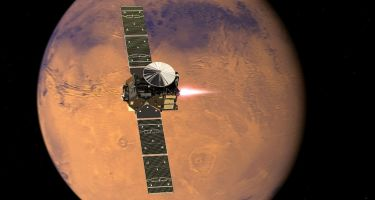 ExoMars 2016 TGO enters orbit . Credit: ESA/ATG medialab