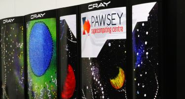 Galaxy: The striking space motif patterned across Galaxy is perfectly suited to the machine supporting radio astronomy activities. The Cray XC30 system processes data from the ASKAP telescope and caters to the needs of the wider radio-astronomy community​ .