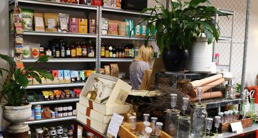 Ethical products in Raw's retail store. .