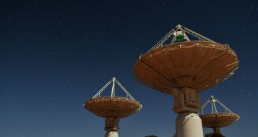 ASKAP at night. Credit: The SKA Organisation