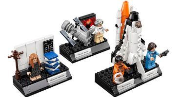 Margaret Hamilton, Sally Ride, Mae Jemison and Nancy G. Roman are the four characters included in the Women of NASA set. Credit: LEGO Ideas